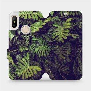 Flipové pouzdro Mobiwear na mobil Xiaomi Mi A2 Lite - V136P Zelená stěna z listů