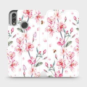 Flipové pouzdro Mobiwear na mobil Honor 8X - M124S Růžové květy