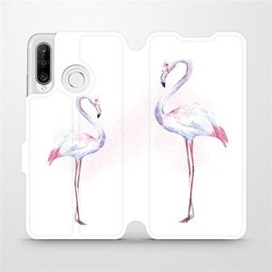 Flipové pouzdro Mobiwear na mobil Huawei P30 Lite - M005S Plameňáci