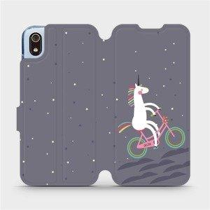 Flipové pouzdro Mobiwear na mobil Xiaomi Redmi 7A - V024P Jednorožec na kole