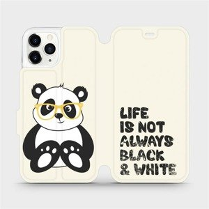 Flipové pouzdro Mobiwear na mobil Apple iPhone 11 Pro - M041S Panda - life is not always black and white