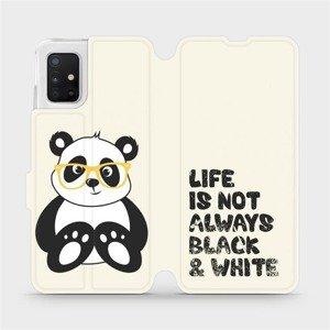Flipové pouzdro Mobiwear na mobil Samsung Galaxy A51 - M041S Panda - life is not always black and white