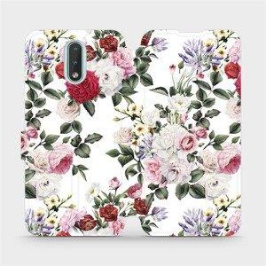 Flipové pouzdro Mobiwear na mobil Nokia 2.3 - MD01S Růže na bílé