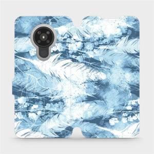 Flipové pouzdro Mobiwear na mobil Nokia 5.3 - M058S Světle modrá horizontální pírka
