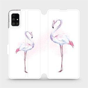 Flipové pouzdro Mobiwear na mobil Samsung Galaxy M51 - M005S Plameňáci