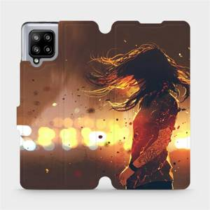 Flipové pouzdro Mobiwear na mobil Samsung Galaxy A42 5G - MA02S Tetovaná dívka