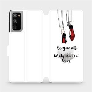 Flipové pouzdro Mobiwear na mobil Samsung Galaxy S20 FE - M046P Be yourself