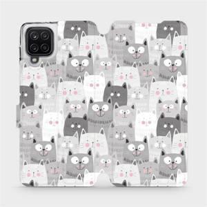 Flipové pouzdro Mobiwear na mobil Samsung Galaxy A12 - M099P Kočičky