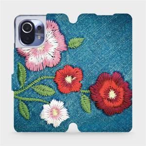 Flipové pouzdro Mobiwear na mobil Xiaomi Mi 11 - MD05P Džínové květy