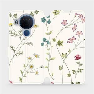 Flipové pouzdro Mobiwear na mobil Nokia 5.4 - MD03S Tenké rostlinky s květy
