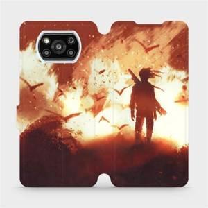 Flipové pouzdro Mobiwear na mobil Xiaomi Poco X3 Pro - MA06S Postava v ohni