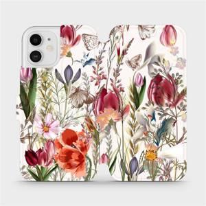 Flip pouzdro Mobiwear na mobil Apple iPhone 12 - MP01S Rozkvetlá louka