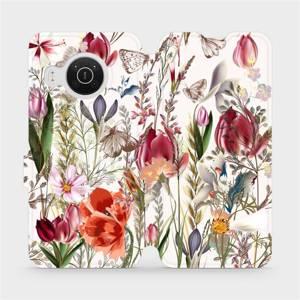 Flip pouzdro Mobiwear na mobil Nokia X10 - MP01S Rozkvetlá louka