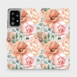 Flip pouzdro Mobiwear na mobil Samsung Galaxy A52 / A52 5G - MP02S Pastelové květy