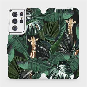 Flip pouzdro Mobiwear na mobil Samsung Galaxy S21 Ultra - VP06P Žirafky