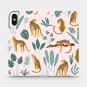 Flip pouzdro Mobiwear na mobil Apple iPhone X - MP07S Leopardi