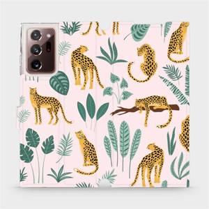 Flip pouzdro Mobiwear na mobil Samsung Galaxy Note 20 Ultra - MP07S Leopardi