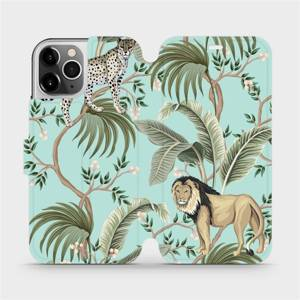 Flip pouzdro Mobiwear na mobil Apple iPhone 12 Pro - MP08S Dvě kočičky