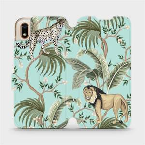Flip pouzdro Mobiwear na mobil Huawei Y5 2019 / Honor 8S - MP08S Dvě kočičky