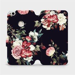 Flipové pouzdro Mobiwear na mobil Huawei P9 Lite 2017 - VD11P Růže na černé