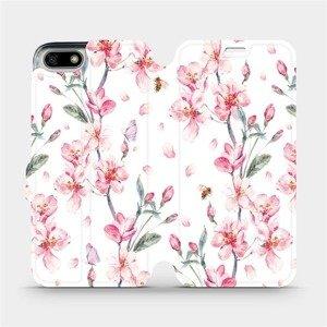 Flipové pouzdro Mobiwear na mobil Honor 7S - M124S Růžové květy