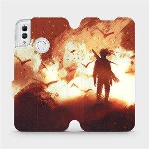 Flipové pouzdro Mobiwear na mobil Honor 10 Lite - MA06S Postava v ohni