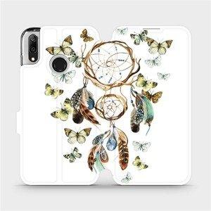 Flipové pouzdro Mobiwear na mobil Huawei Y7 2019 - M001P Lapač a motýlci