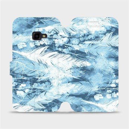 Flipové pouzdro Mobiwear na mobil Samsung Xcover 4 - M058S Světle modrá horizontální pírka