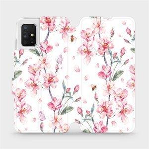 Flipové pouzdro Mobiwear na mobil Samsung Galaxy A51 - M124S Růžové květy