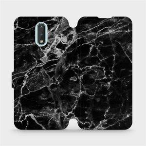 Flipové pouzdro Mobiwear na mobil Nokia 2.3 - V056P Černý mramor