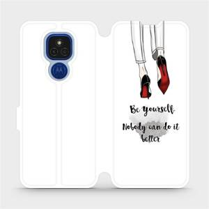 Flipové pouzdro Mobiwear na mobil Motorola Moto E7 Plus - M046P Be yourself
