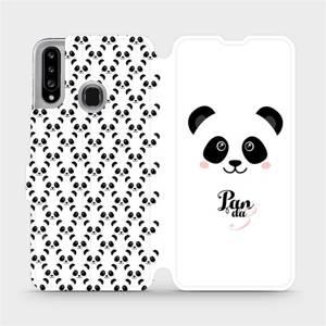 Flipové pouzdro Mobiwear na mobil Samsung Galaxy A20S - M030P Panda Amálka