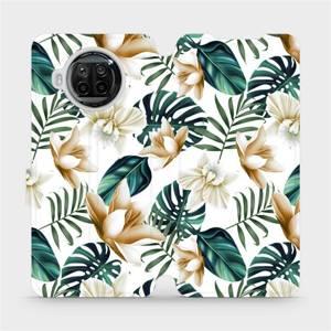 Flipové pouzdro Mobiwear na mobil Xiaomi MI 10T Lite - MC07P Zlatavé květy a zelené listy