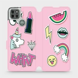 Flipové pouzdro Mobiwear na mobil Motorola Moto G9 Power - M129S Růžové WHAT