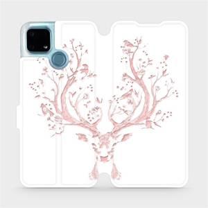 Flip pouzdro Mobiwear na mobil Realme 7i - M007S Růžový jelínek
