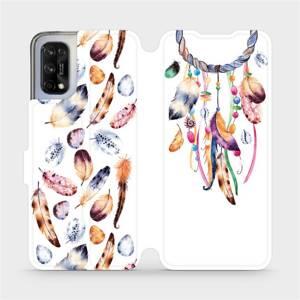 Flipové pouzdro Mobiwear na mobil Realme 7 5G - M003S Lapač a barevná pírka