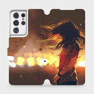 Flipové pouzdro Mobiwear na mobil Samsung Galaxy S21 Ultra 5G - MA02S Tetovaná dívka
