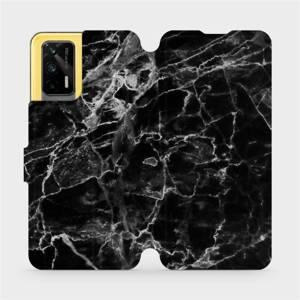 Flipové pouzdro Mobiwear na mobil Realme GT 5G - V056P Černý mramor