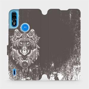 Flipové pouzdro Mobiwear na mobil Motorola Moto E7 Power - V064P Vlk a lapač snů