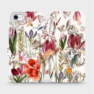 Flip pouzdro Mobiwear na mobil Apple iPhone 7 - MP01S Rozkvetlá louka