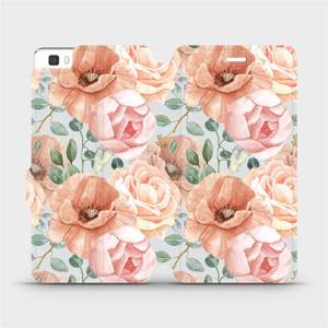 Flip pouzdro Mobiwear na mobil Huawei P8 Lite - MP02S Pastelové květy