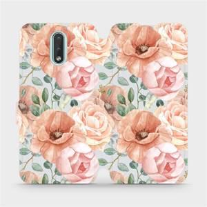 Flip pouzdro Mobiwear na mobil Nokia 2.3 - MP02S Pastelové květy