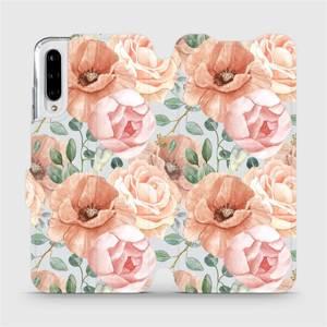 Flip pouzdro Mobiwear na mobil Xiaomi Mi A3 - MP02S Pastelové květy