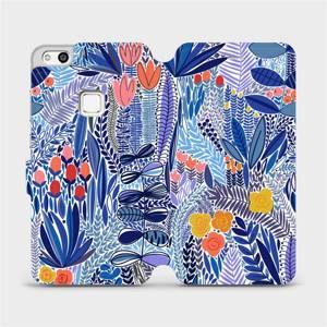 Flip pouzdro Mobiwear na mobil Huawei P10 Lite - MP03P Modrá květena