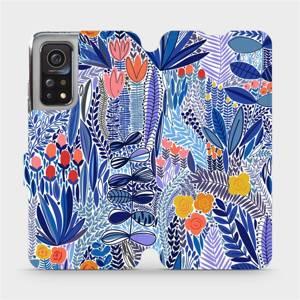 Flip pouzdro Mobiwear na mobil Xiaomi Mi 10T - MP03P Modrá květena