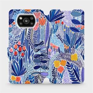 Flip pouzdro Mobiwear na mobil Xiaomi POCO X3 Pro - MP03P Modrá květena