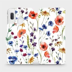 Flip pouzdro Mobiwear na mobil Samsung Galaxy A20e - MP04S Luční kvítí