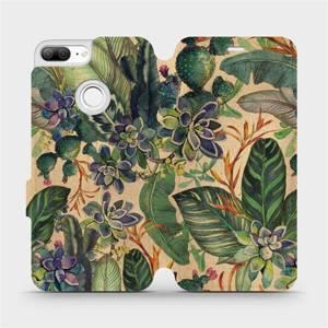 Flip pouzdro Mobiwear na mobil Honor 9 Lite - VP05S Sukulenty