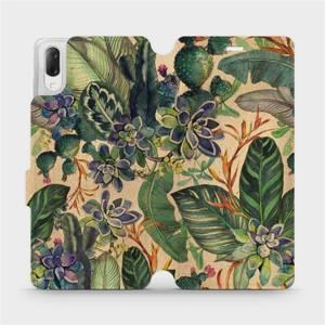 Flip pouzdro Mobiwear na mobil Sony Xperia L3 - VP05S Sukulenty