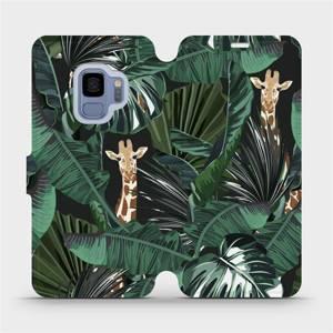 Flip pouzdro Mobiwear na mobil Samsung Galaxy S9 - VP06P Žirafky